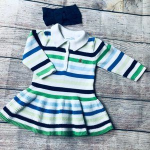 Baby Girl size 3-6m Baby Gap Sweater Dress + bow